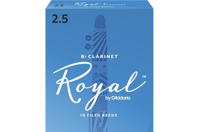 Rico Royal Clarinet Reeds Strength 2.5 Box of 10
