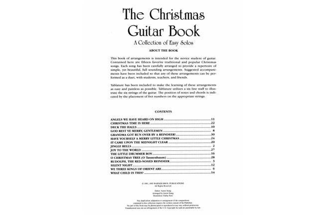 The Christmas Guitar Book | Heid Music