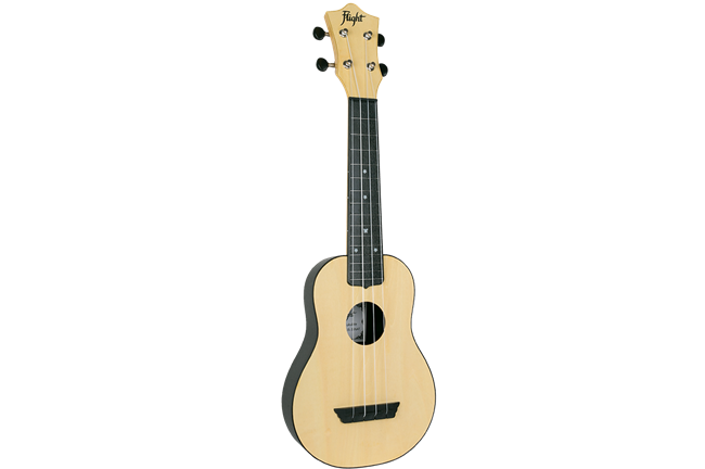 Flight TUS35 Travel Soprano Ukulele - Natural