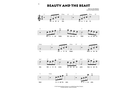 Recorder Fun Beauty And The Beast Heid Music
