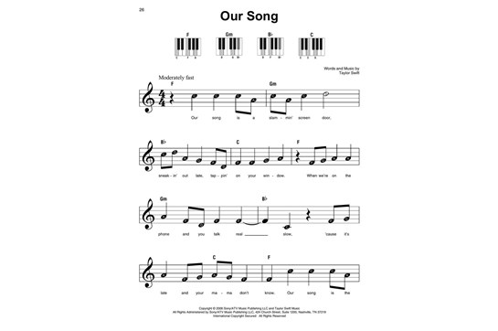 Taylor Swift Super Easy Songbook Heid Music