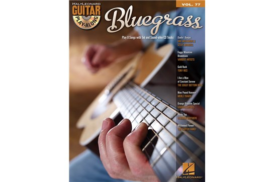 Bluegrass Guitar Play-Along Volume 77