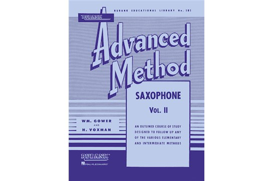 1 Hal Leonard 04470370 Rubank Advanced Method Saxophone Vol