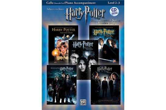 Harry Potter Instrumental Solos for Cello (Movies 1-5)