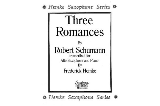 Three Romances for Alto Saxophone & Piano