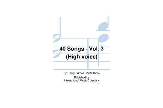 40 Songs Vol 3 (high voice)