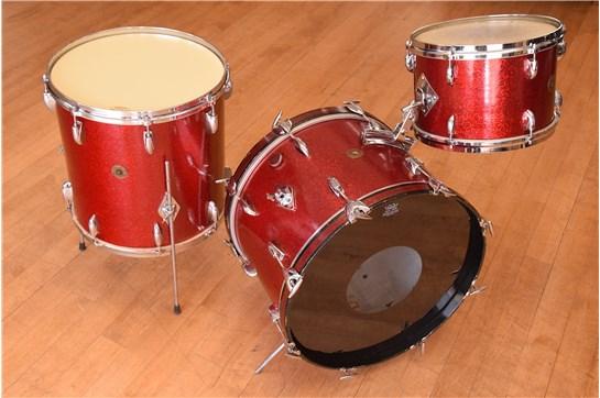 1960s Gretsch Round Badge Red Sparkle Drum Set | Heid Music