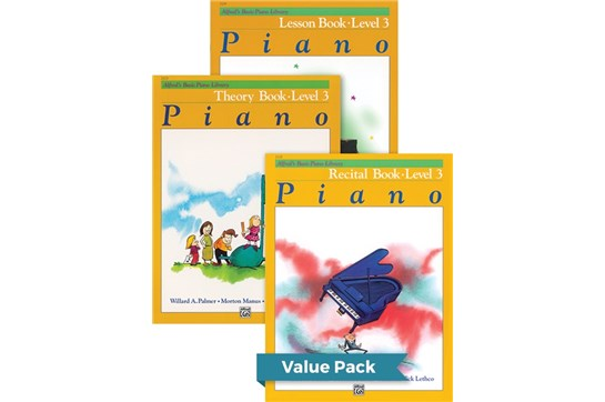 Alfred's Basic Piano Library Lesson, Theory, Recital 3 (Value Pack