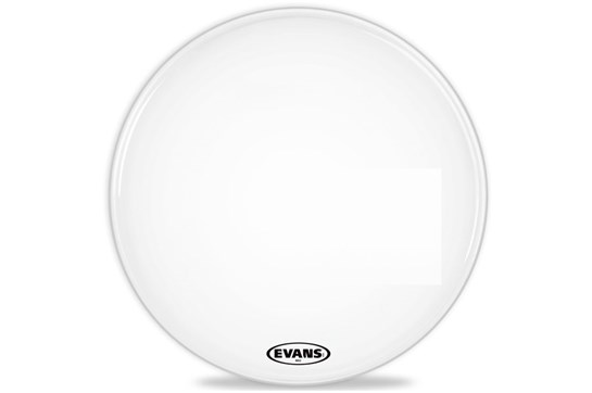 "Evans 22"" MX2 Marching Bass Head, White"