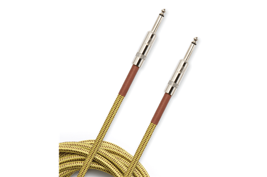 D'addario 15' Braided Instrument Cable - Tweed