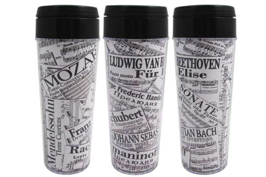 Composers/Sheet Music Travel Tumbler