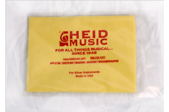 Heid Music Polish Cloth for silver flutes, trumpets, and all silver instruments