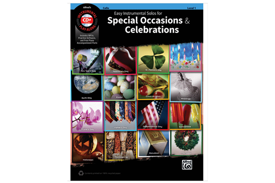 Easy Instrumental Solos for Special Occasions & Celebrations (Cello)