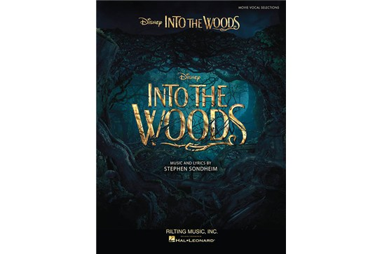 Disney's Into the Woods voice and piano sheet music book