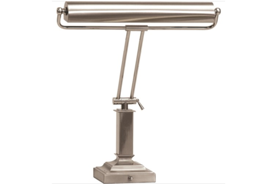 House of Troy Satin Nickel Square Base Piano Lamp