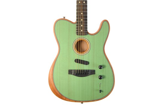 In Purposeful Fender American Acoustasonic Telecaster Acoustic Electric Guitar Surf Green Novel Design;