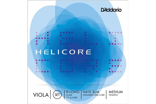 D'Addario Helicore Viola Steel String Set - XLong Medium (4/4 Size)