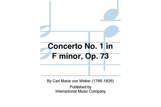 Weber First Clarinet Concerto Cover
