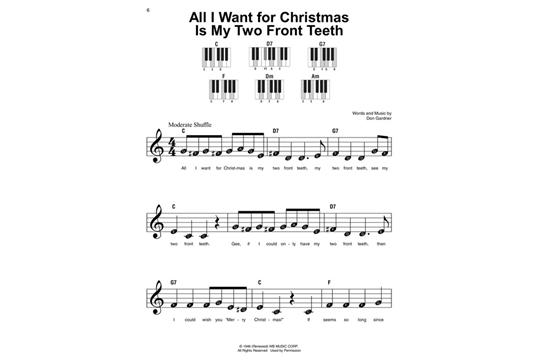 I Want A Hippopotamus For Christmas Sheet Music.Christmas Songs Super Easy Songbook Heid Music