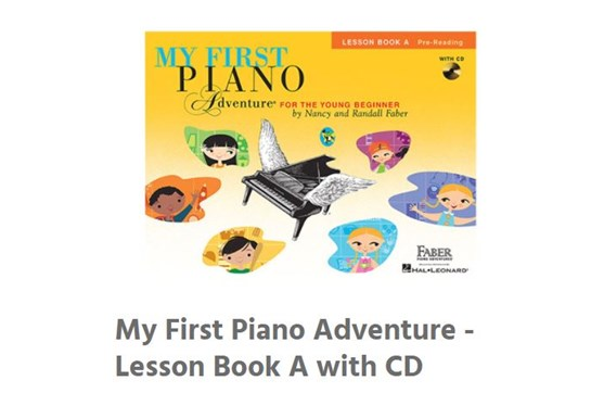 My very first piano adventure