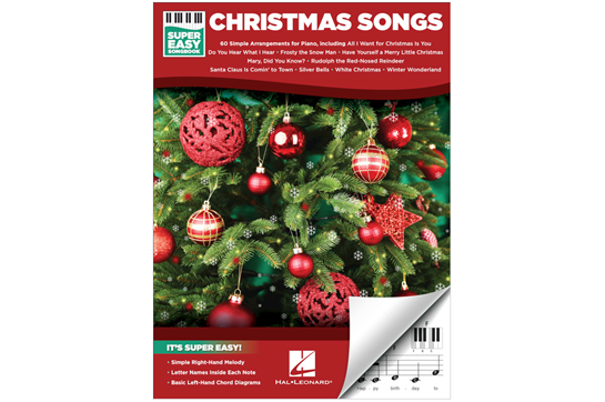 Rockin Around The Christmas Tree Piano Letters.Christmas Songs Super Easy Songbook Heid Music