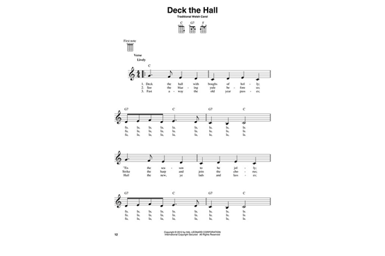3 Chord Christmas Carols For Ukulele Heid Music