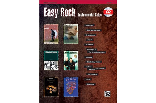 Easy Rock Instrumental Solos for Alto Sax - Level 1