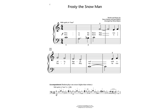 picture relating to Vintage Christmas Sheet Music Printable,frosty the Snowman called Frosty the Snowman Basic Piano Heid New music