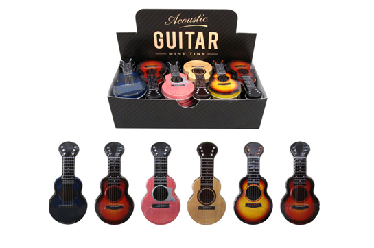 Acoustic Guitar Shaped Mint Tins