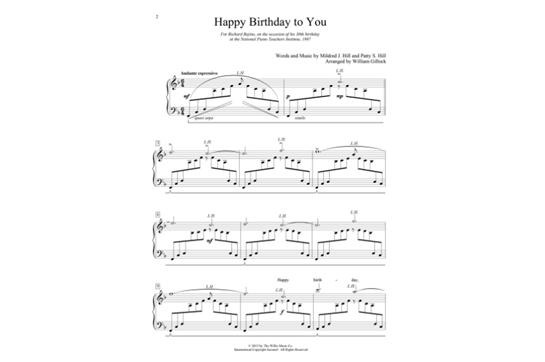 happy birthday to you piano arrangement ▷▷ a c i