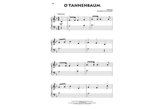 O Tannenbaum Piano.A Charlie Brown Christmas Beginning Piano Solo Heid Music