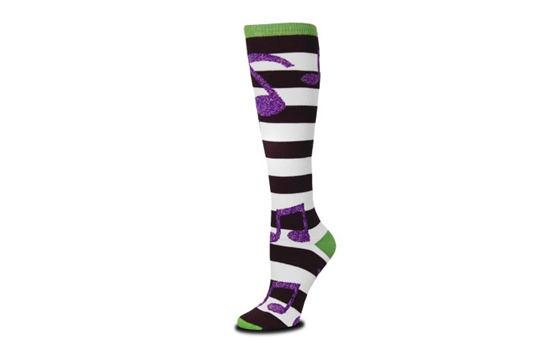Music Notes Rugby Socks