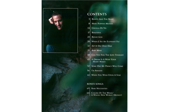the jim brickman the disney songbook piano vocal chords