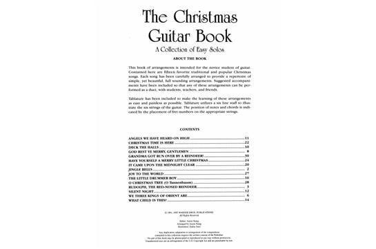 The Christmas Guitar Book Heid Music