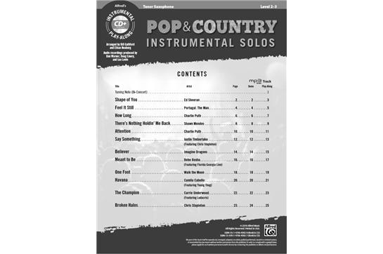 Pop & Country Instrumental Solos (Tenor S   Heid Music