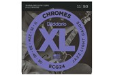 D'Addario ECG24 XL Chromes Flat Wound Jazz Light Guitar Strings (11-50)