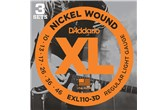 D'Addario EXL110-3D Nickel Wound Regular Light Electric Strings .10-.046