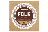 D'Addario EJ33 Folk Nylon Guitar Strings, 80/20 Bronze/Clear Nylon Trebles