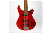 1989 PRS Bass-4 Flame Red w/ OHSC & Case Candy