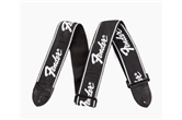 Fender Guitar Strap (Black w/Running Logo)