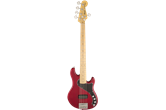 Used Squier Deluxe Dimension V Bass Maple Neck (Crimson Red Transparent)