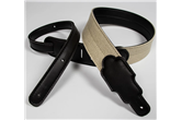 "Franklin 2"" Hemp Guitar Strap w/Leather Ends (Black)"