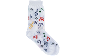 Kids Multi-Colored Music Note Socks