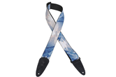 "Levy's 2"" Nova Blue Water Art Guitar Strap"