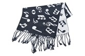 Musical Note Cashmere-like Scarf