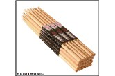 12 Pair Pack of On-Stage 5A Hickory Drumsticks (Nylon Tip)