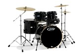 PDP Mainstage 5-Piece Drum Set w/ Cymbals (Black Metallic)