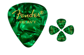 Fender Green Moto Heavy Guitar Picks (12 Pack)
