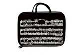 Music Staff Zippered Tote Bag
