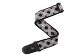 "D'Addario Planet Waves 2"" Guitar Strap, Buffalo Check Grey"